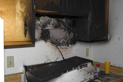 Water Damage Restoration - Livonia - MJM Property Restoration - fire1