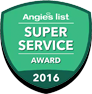Angie's List Super Service Award 2016 logo